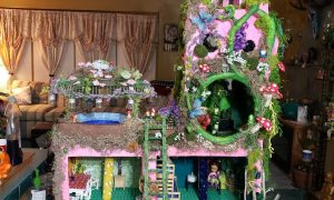 Paper mache fairy house by by Stephanie Nasshahn