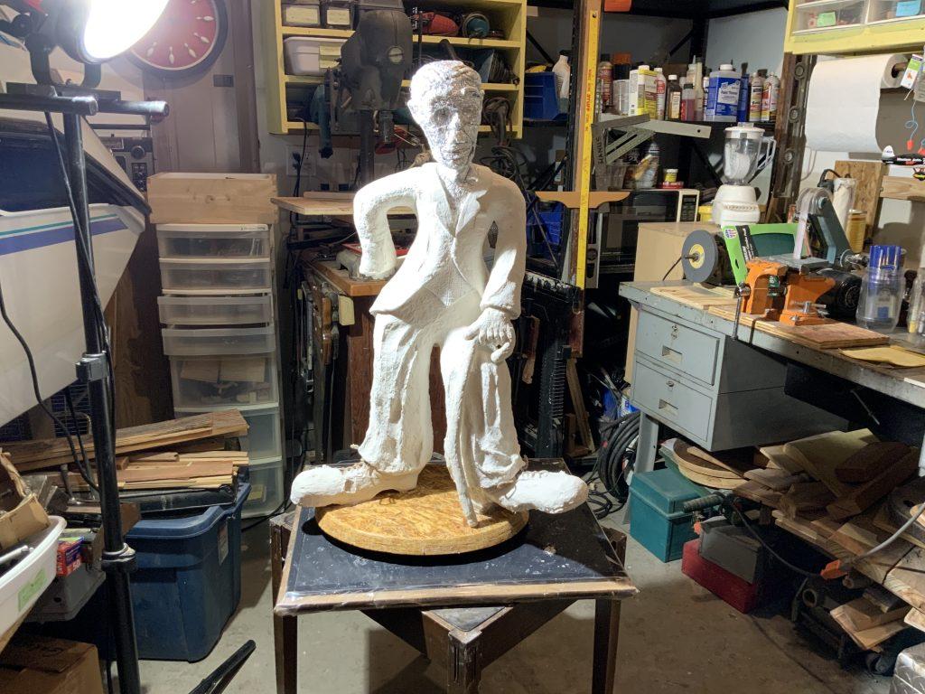 Charlie Chaplin Sculpture armature