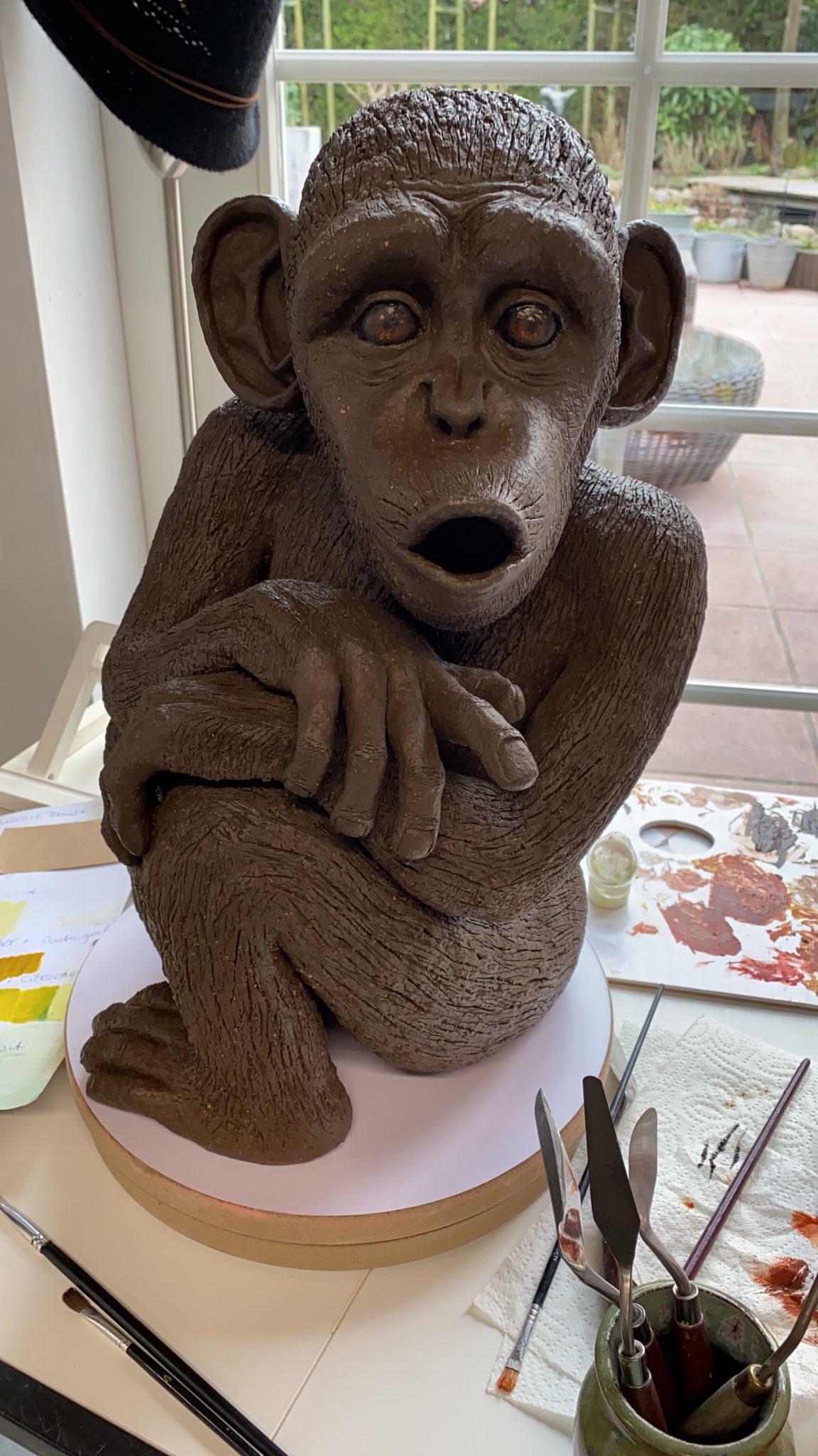 Clay monkey