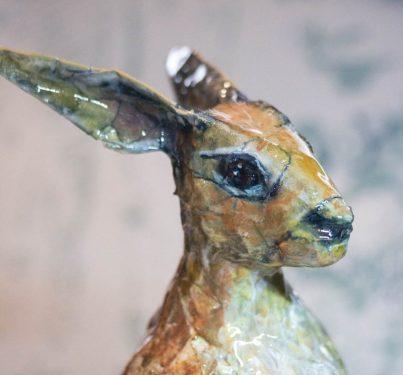 Daring Hare sculpture by Lummie Bergsma