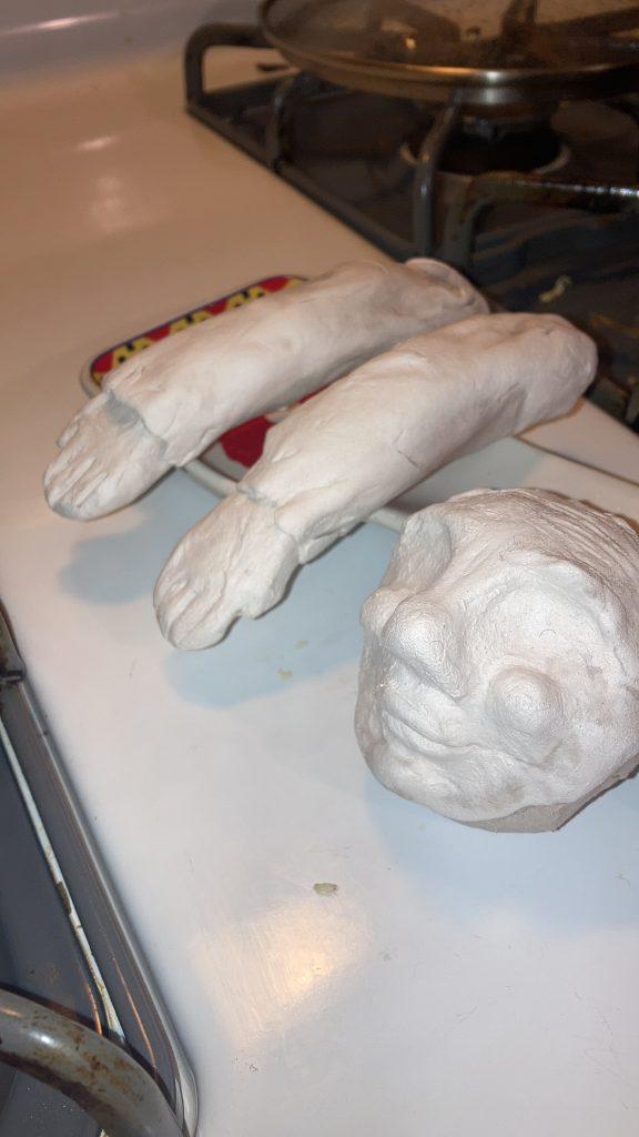 Lady Gnome sculpture in progress
