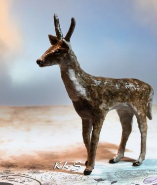 Deer made with Paper Mache Clay