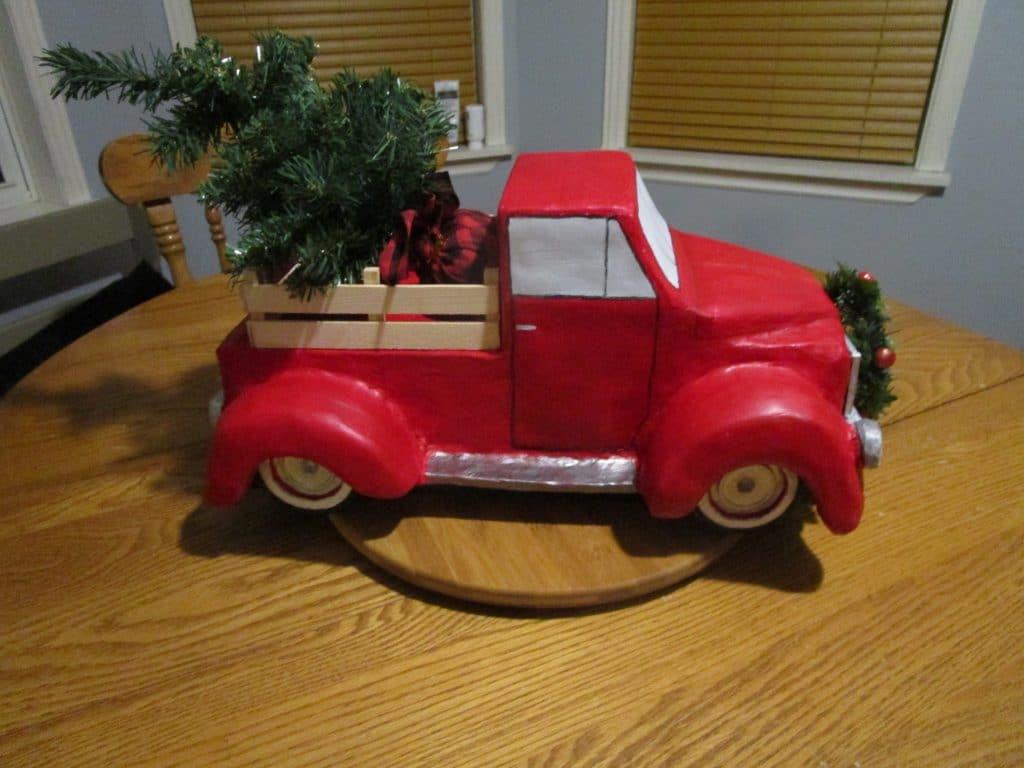 Christmas Red Truck Kleenex box cover