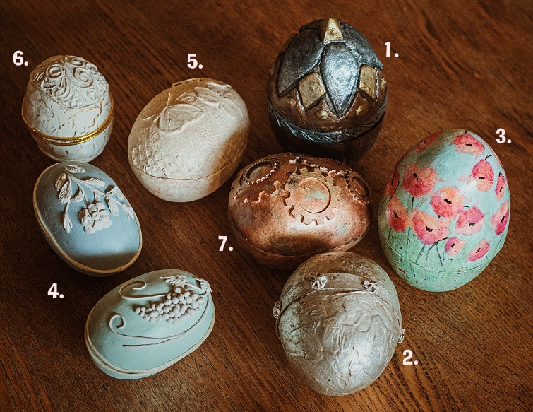 Paper Mache Easter Egg Designs