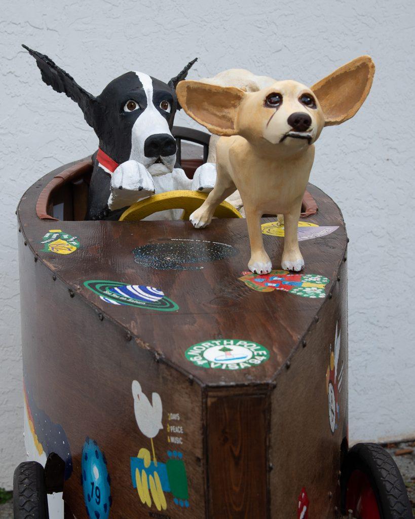 Radar the dog in a time machine