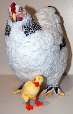 Paper mache chick by Rex Winn