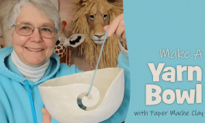 Make a Yarn Bowl with Paper Mache Clay