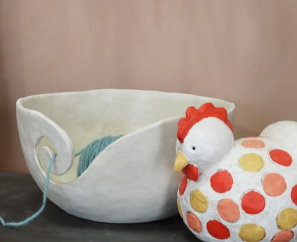 Make a yarn bowl for knitters
