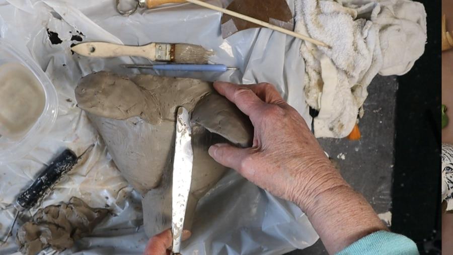 Prepare the clay model for the silicone mold