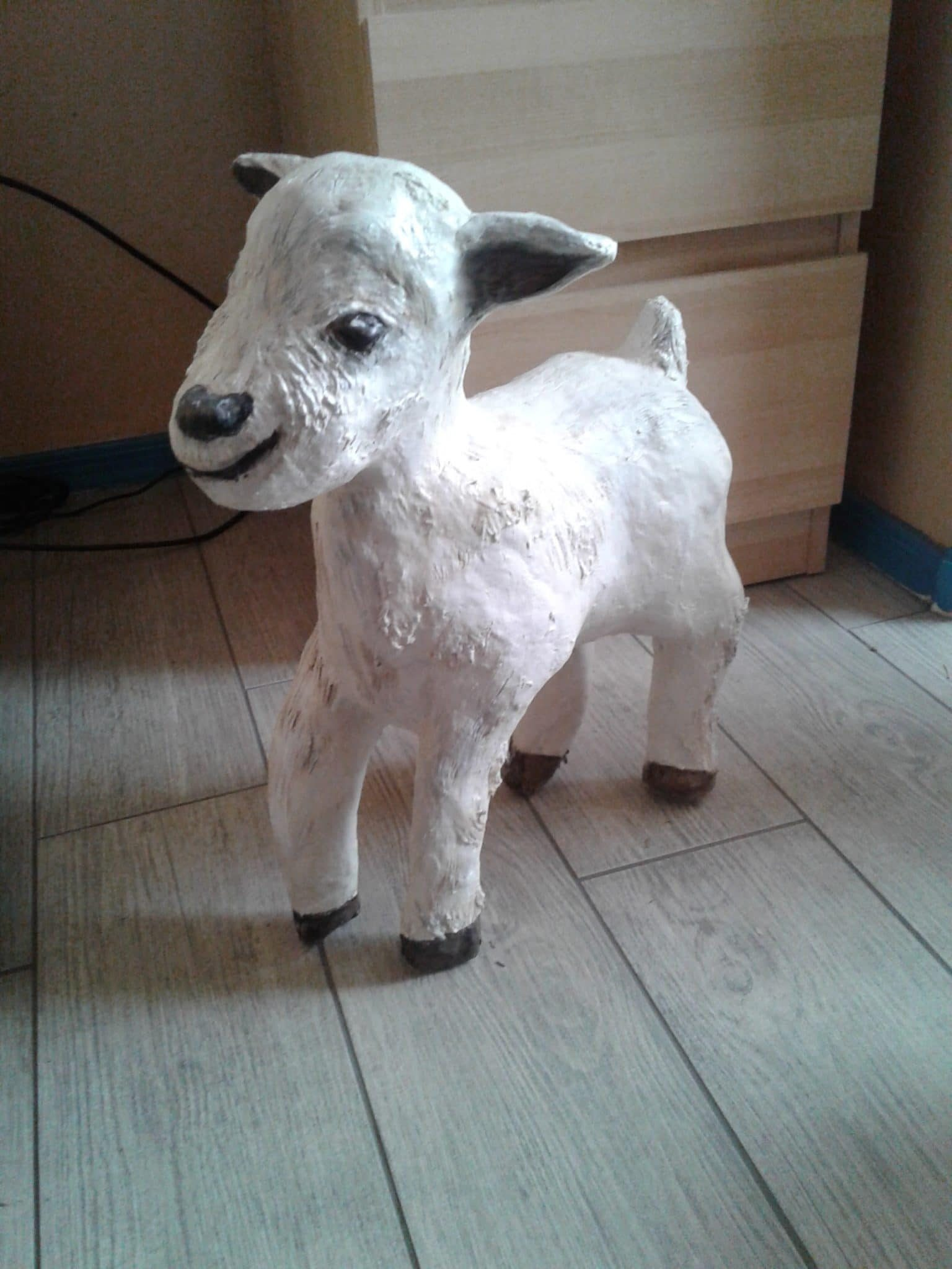 Baby Goat made with Paper Mache