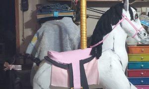 paper mache carousel horse