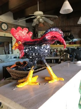 Paper Mache rooster