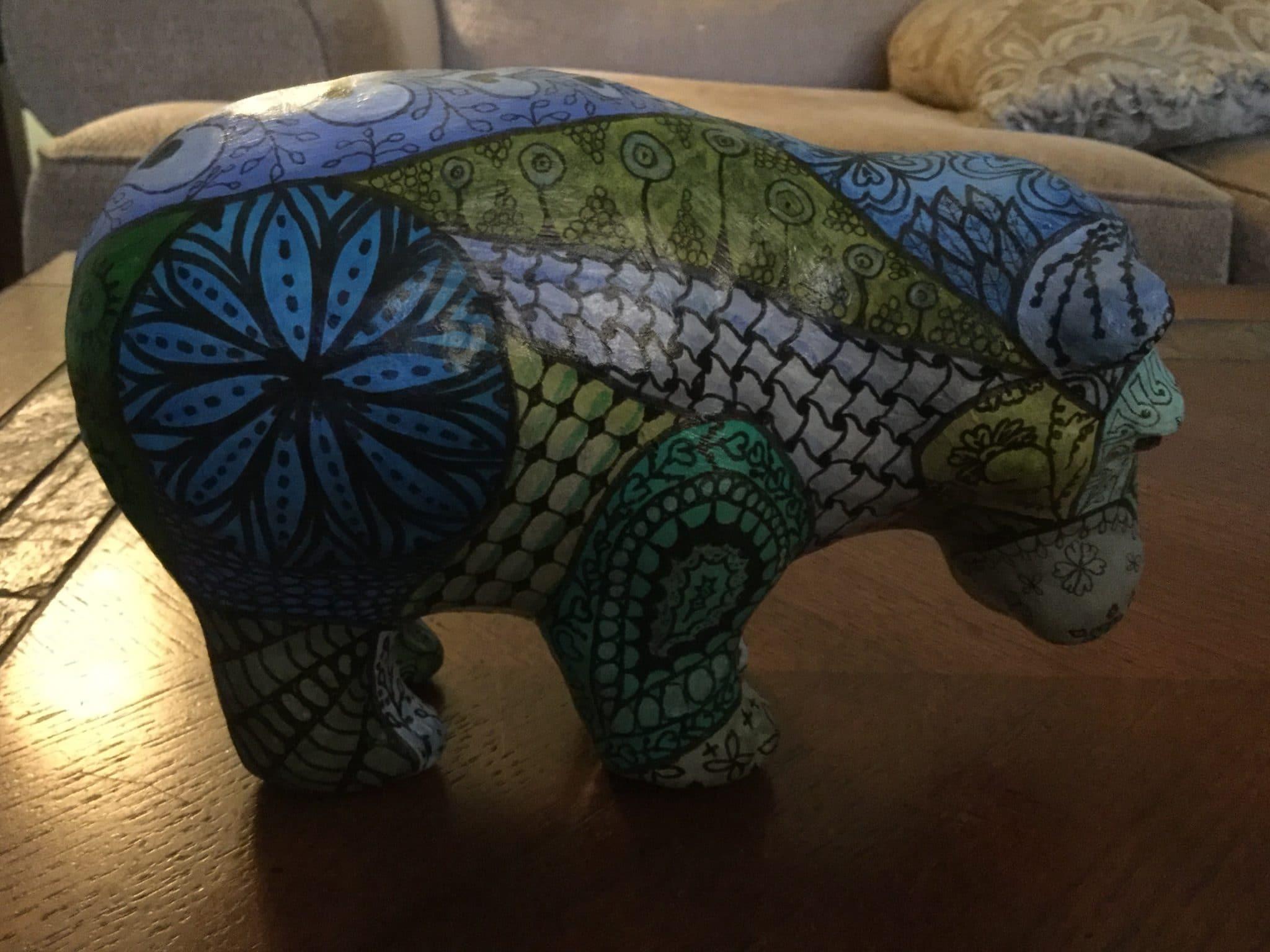 Zen-doodle hippo