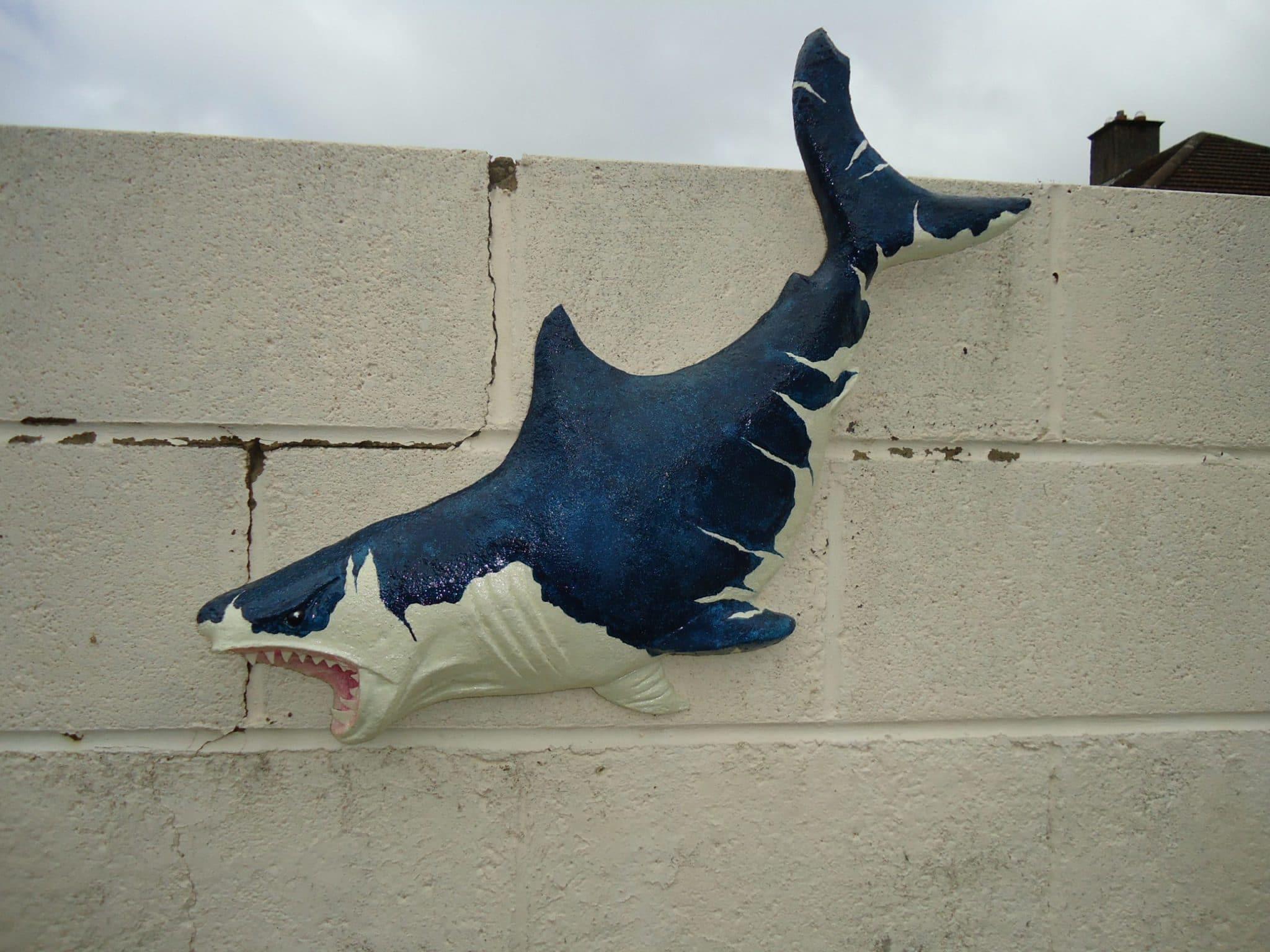 paper mache Megalodon shark