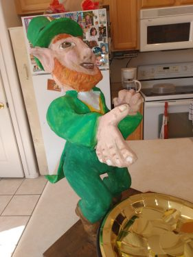 Clancy the lucky Leprechaun sculpture