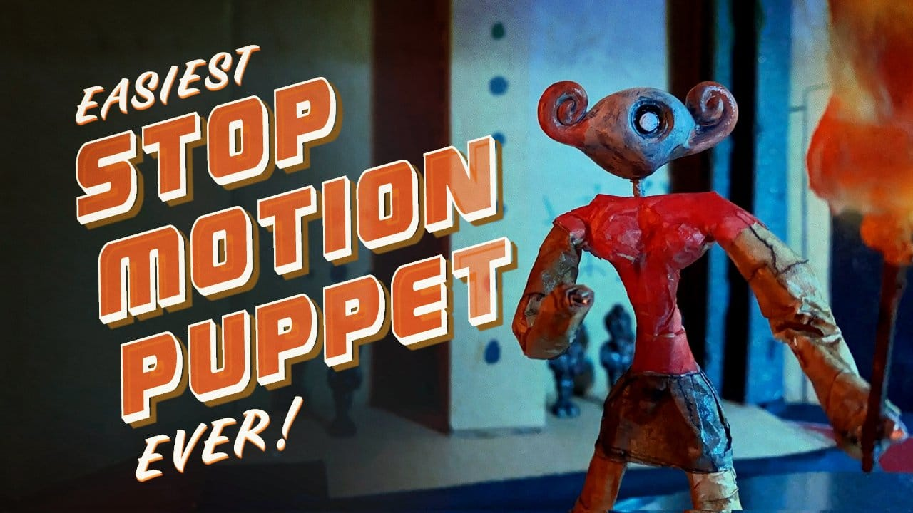 paper mache stop-motion puppet by Ryan Dufrene