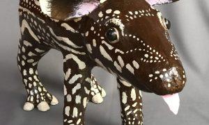 Paper mache tapir