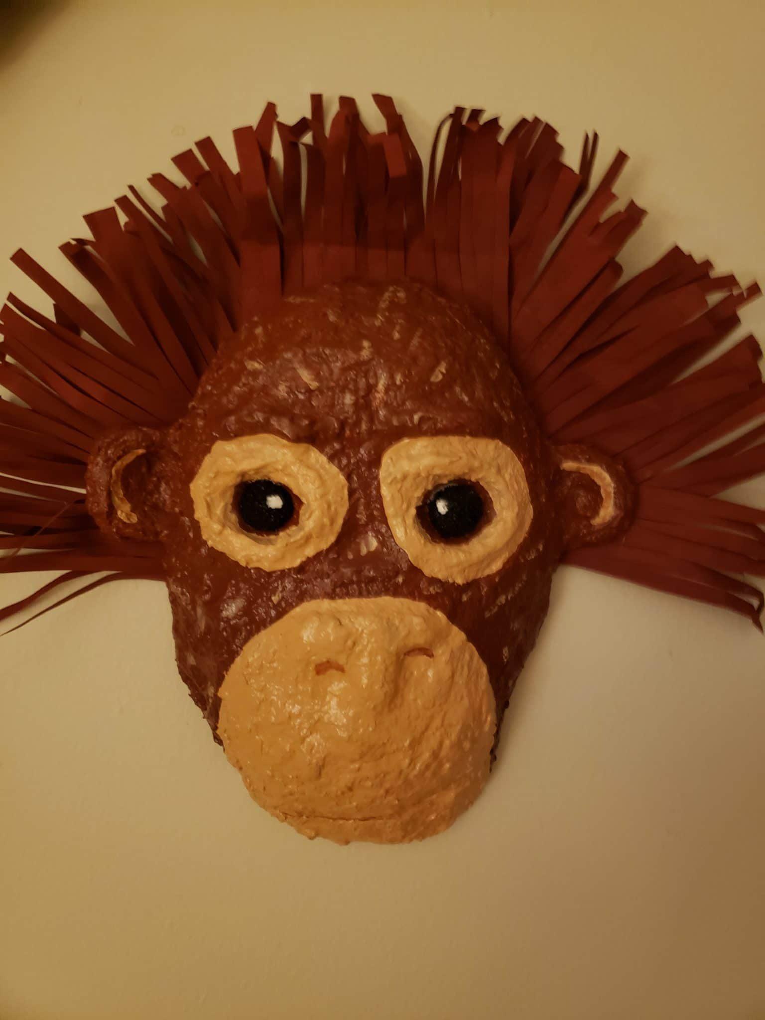 Oliver, the paper mache baby orangutan