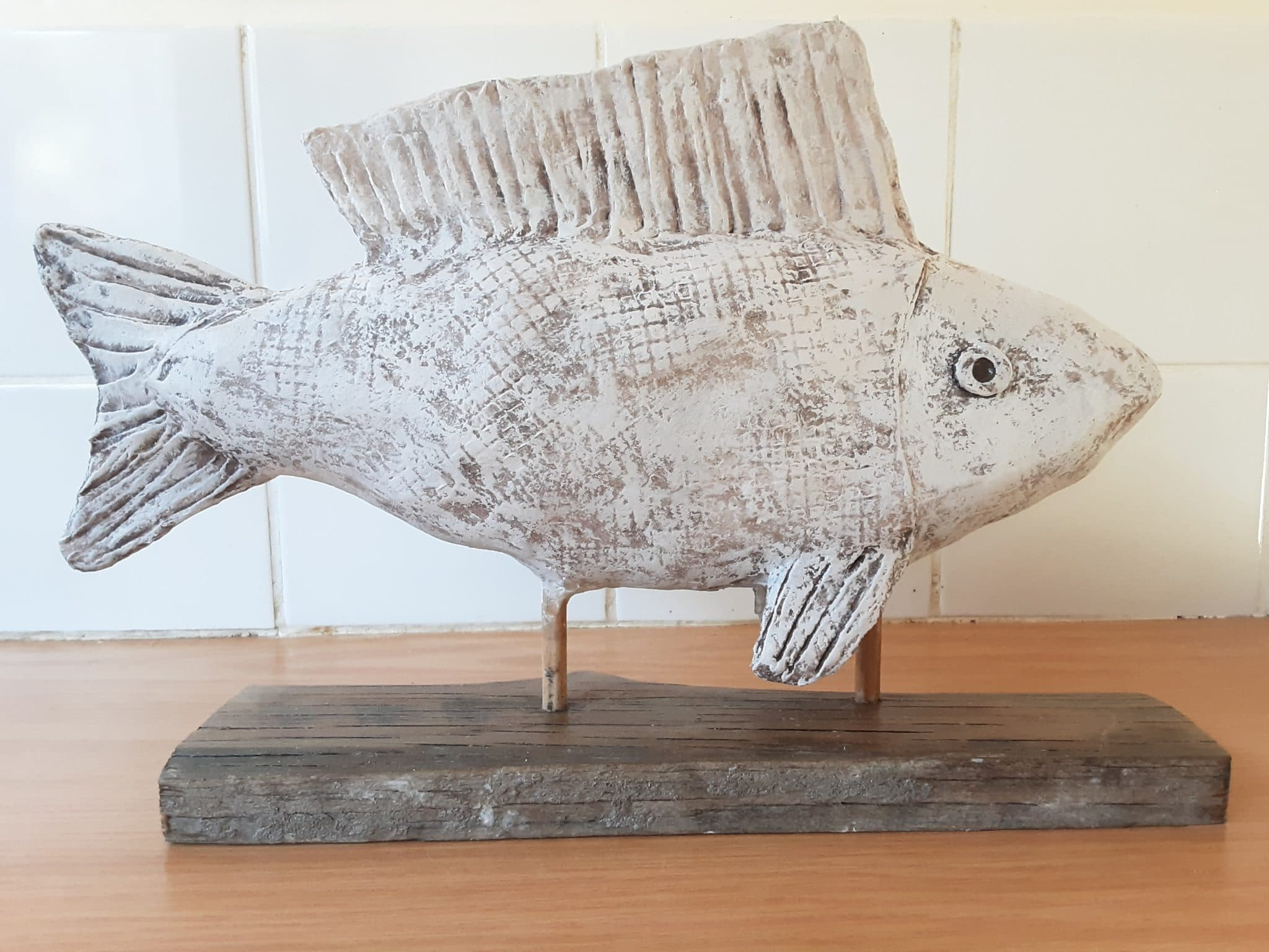 Fish Sculpture made with Air Dry Clay