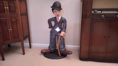 Sculpture of Charlie Chaplin, by Robert Hanus