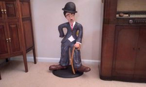 Sculpture of Charlie Chaplin, by Robert Hanus