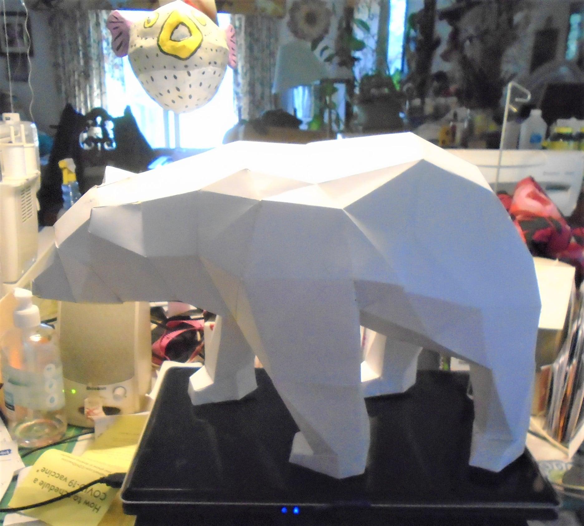 Paper Mache Bear