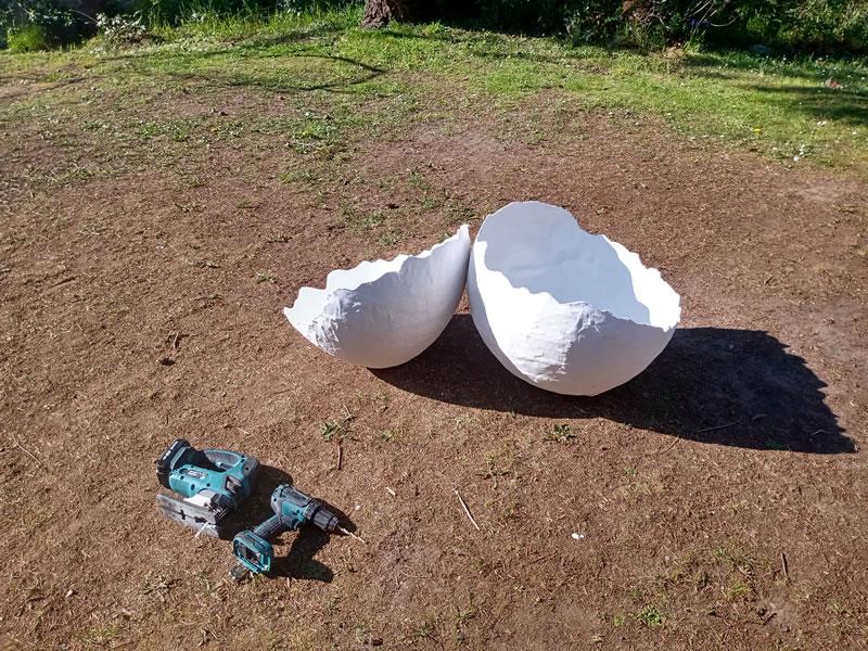 Paper Mache Egg Photo Prop