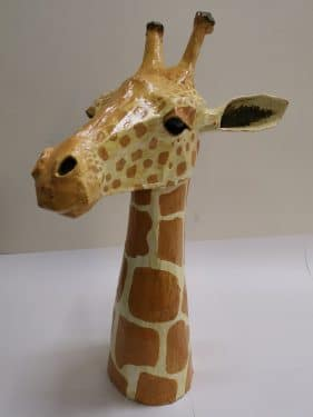 Giraffe made for art auction at The International School of Moscow