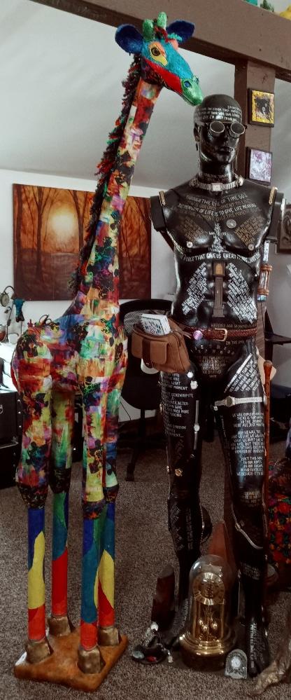 Whimsical Giraffe Sculpture