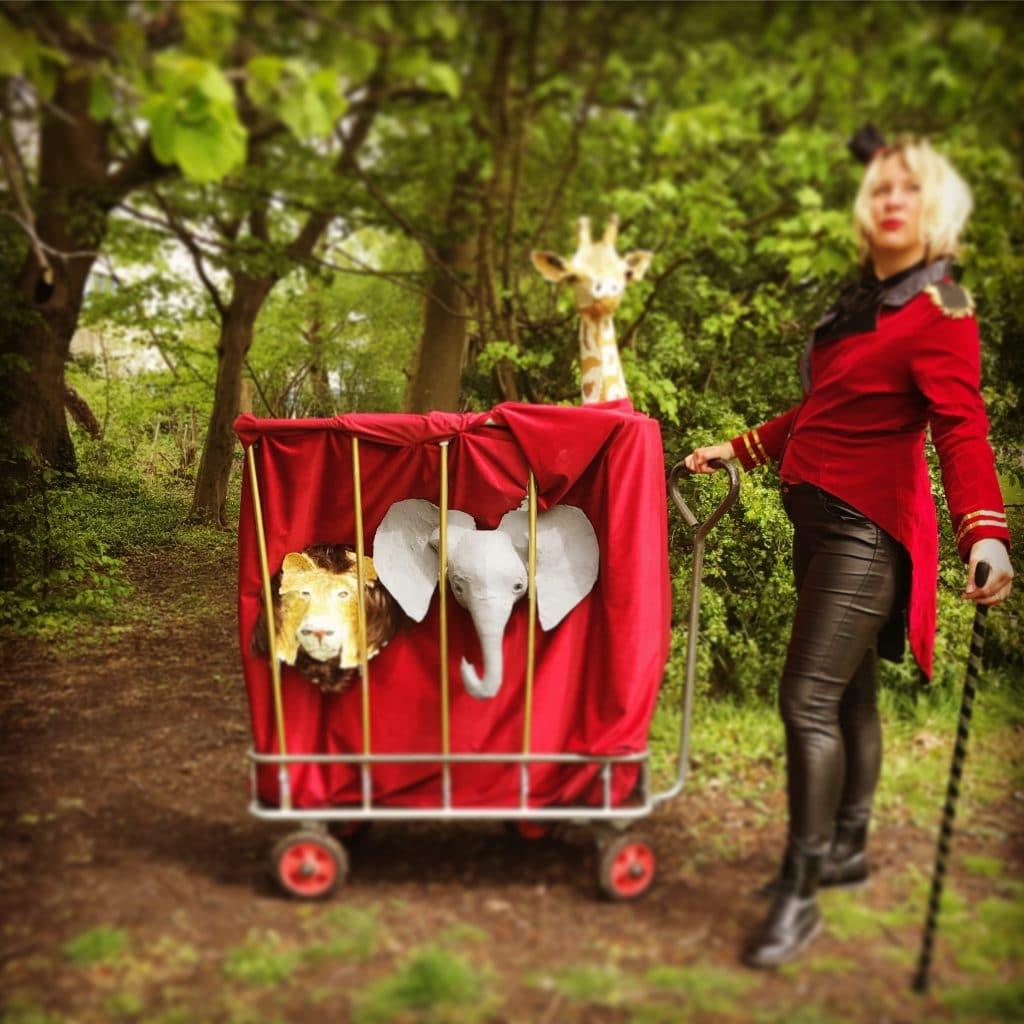 Paper mache Circus Cart