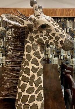 Paper mache giraffe made in South Africa