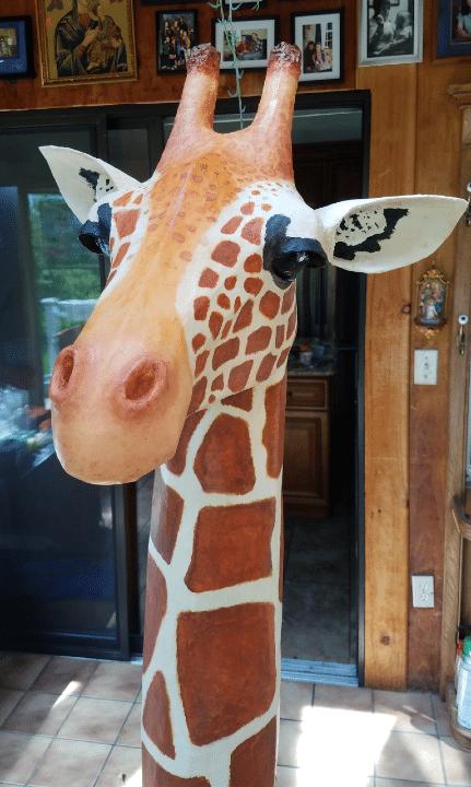 Giraffe Head sculpture for mother's day