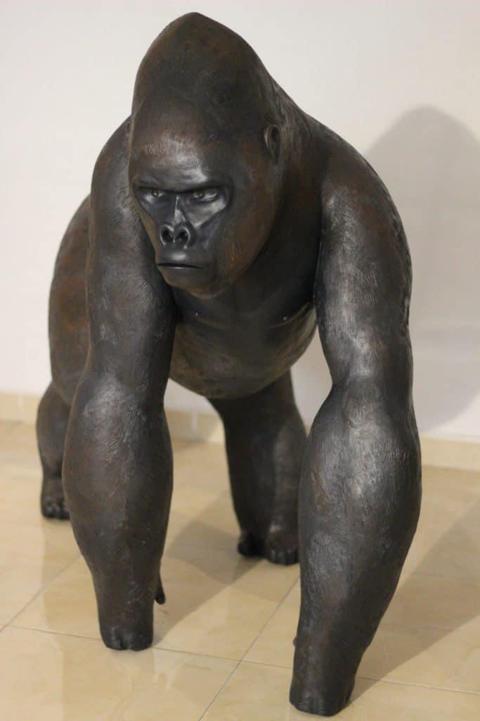 Sculpture of a Mountain Gorilla