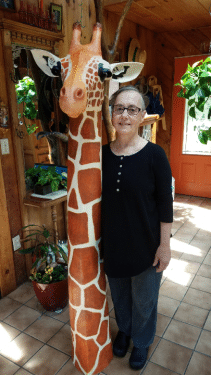 Giant Mother's Day Giraffe Sculpture
