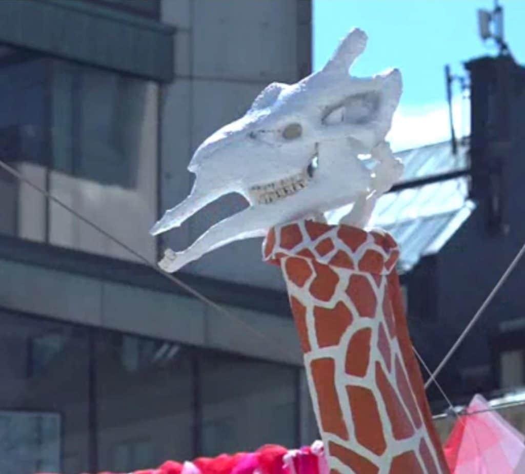 Giraffe head armature