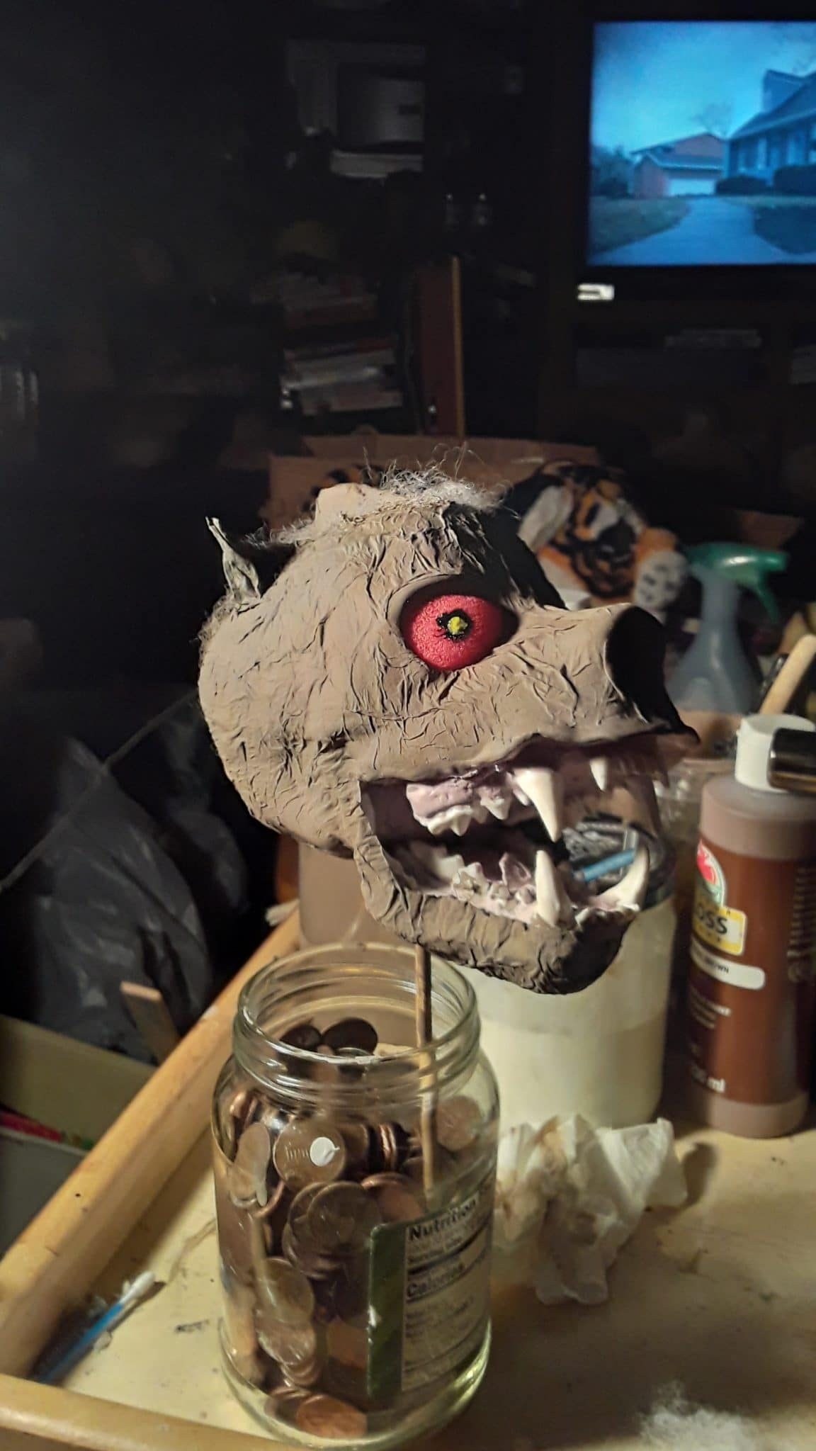 Monster head for a carnival prop by John Boutwell