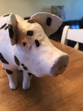 paper mache piggy