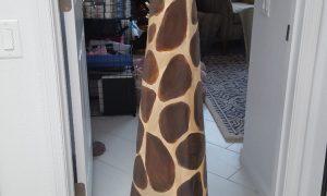 Paper mache giraffe neck and head