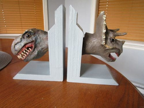 Dinosaur Bookends made by Tammy Melanson