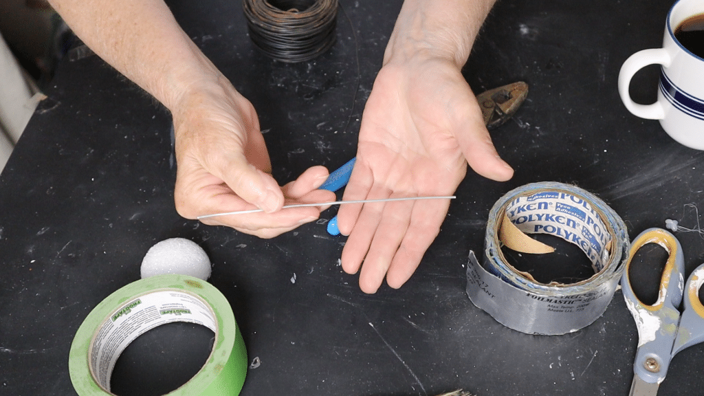 thin wire for paper mache feathers