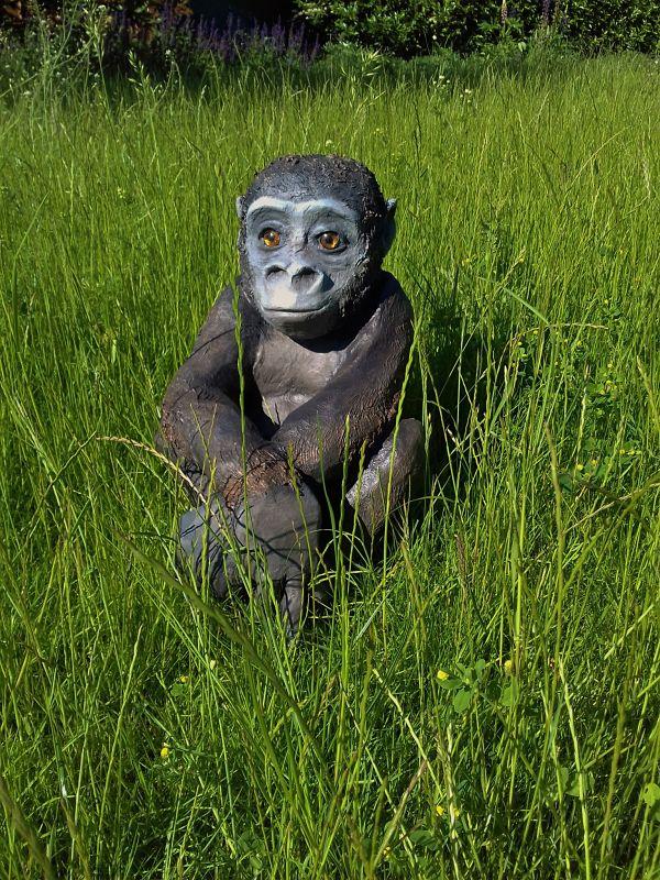 Theodore the paper mache baby gorilla