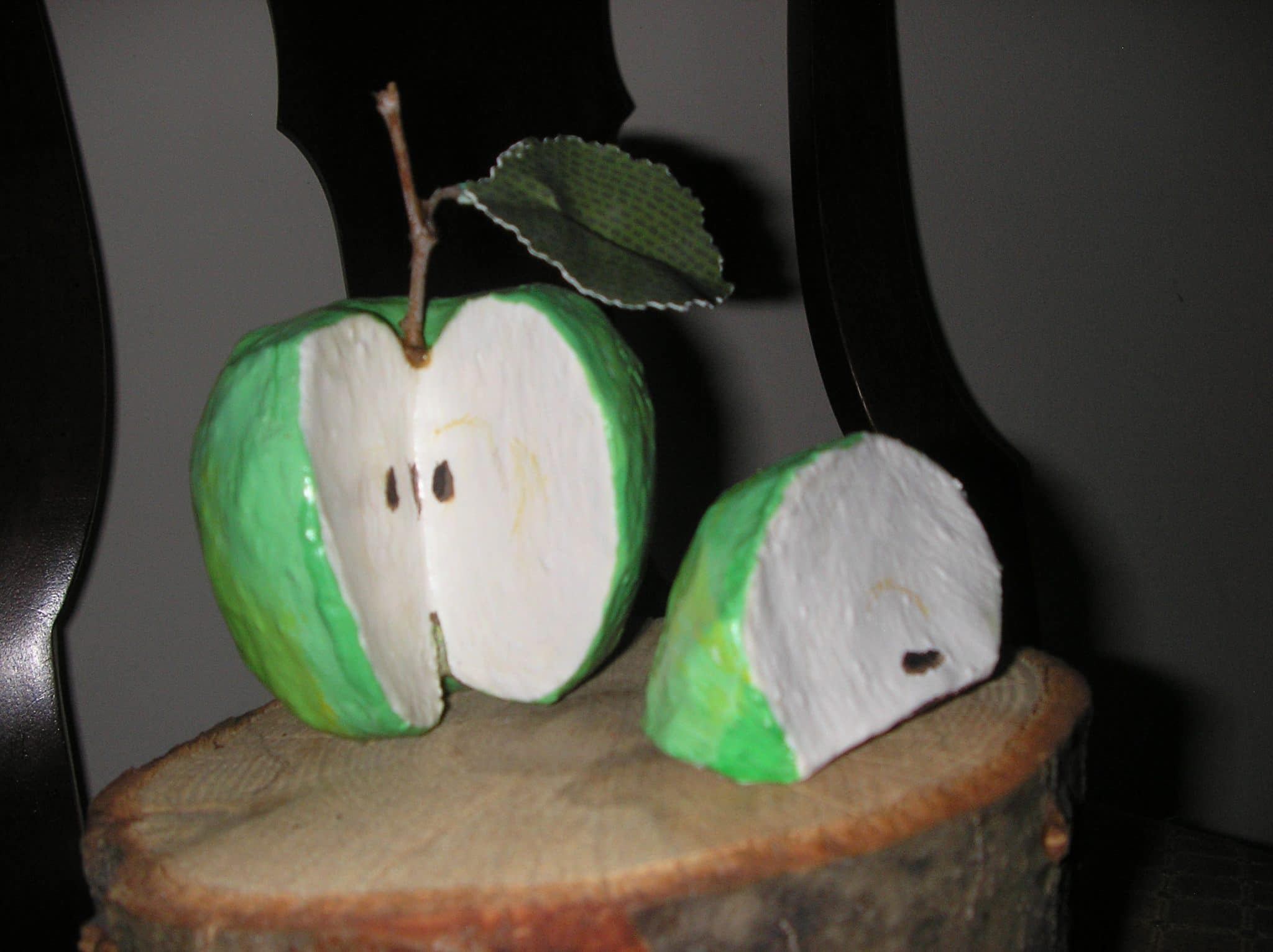 Paper mache apple