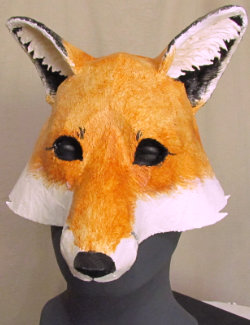 New fox mask pattern for paper mache