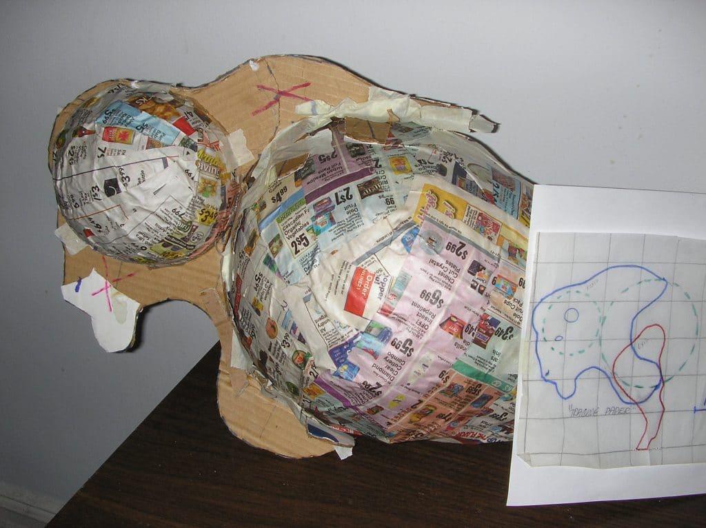 Bison head construction