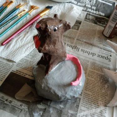 Paper mache mouse