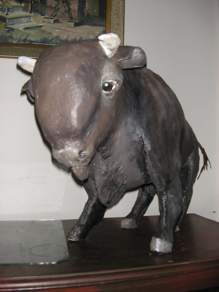 Paper mache bison