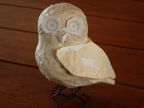 Armature for paper mache Arizona Elf Owl