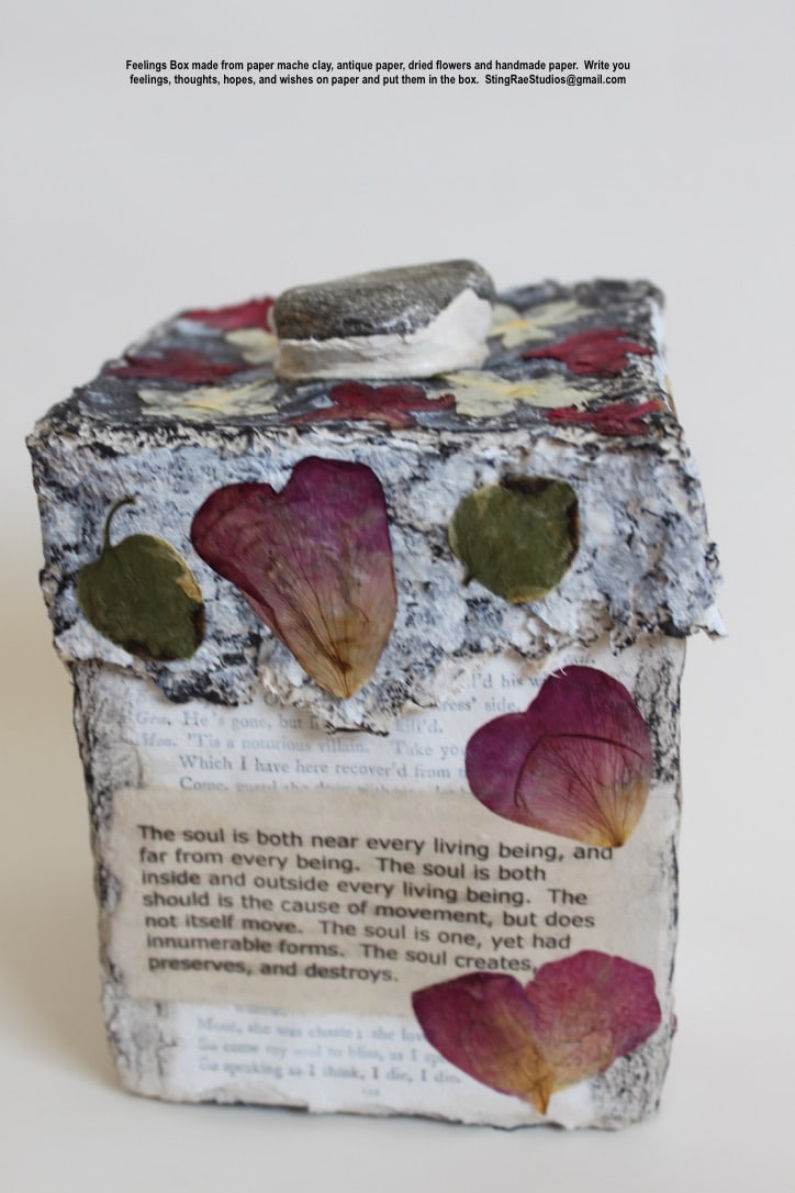Feelings-Box-Paper-Mache-Clay1-Made-from-antique-paperdried-flowers-and-handmade-paper.-The-Light-of-the-Soul