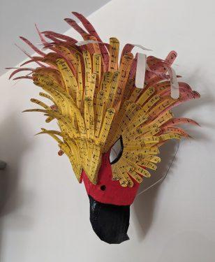 Paper mache musical Phoenix mask