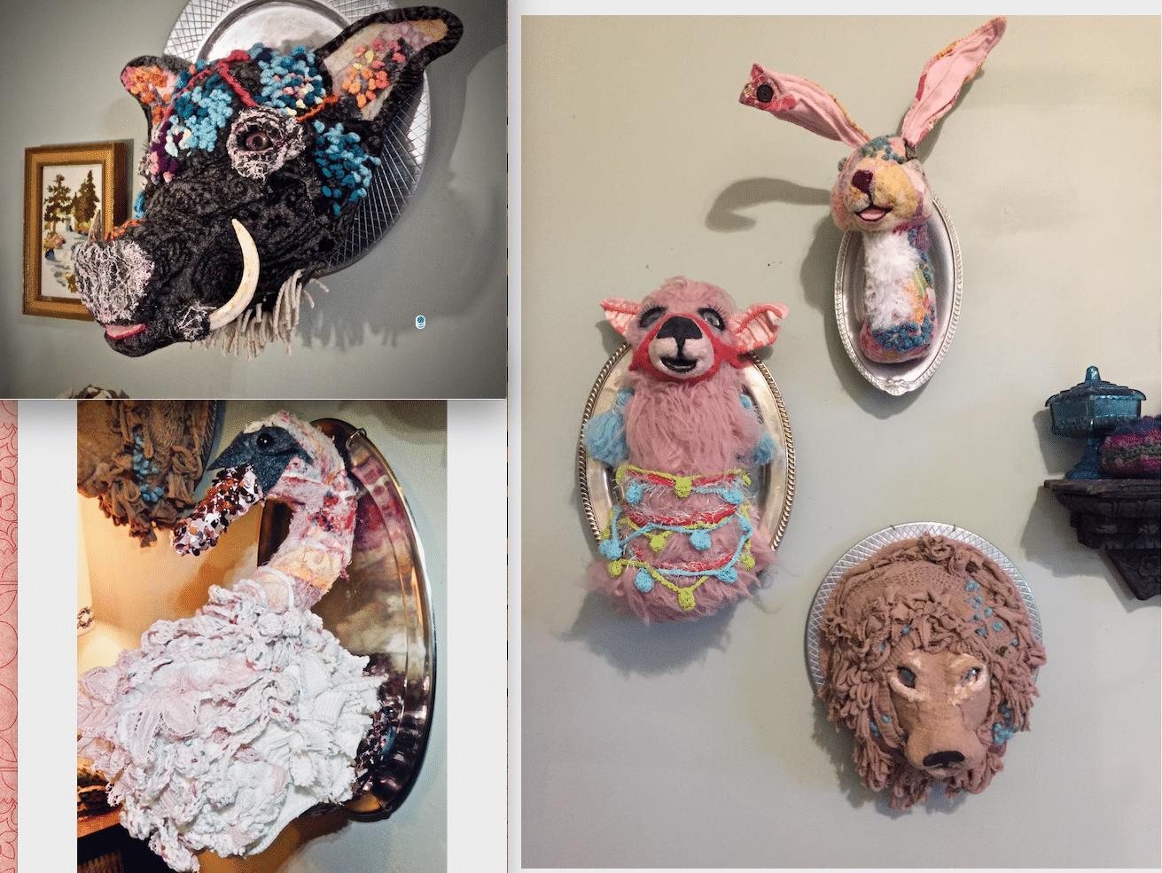 """""""Herd"""" of paper clay animals"""